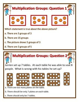 Fun Farm Bean Bag Toss Problem Solving Multiplication (QUESTION SET A)