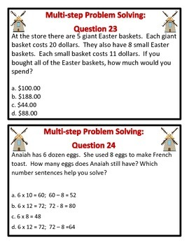 Fun Farm Glide: Multiplication Problem Solving (Question Set A)