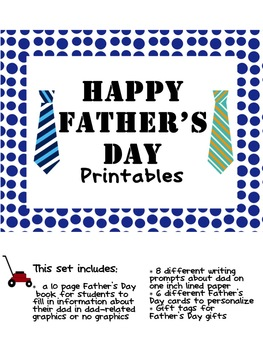 Fun Father's Day Printables {Book for Dad, Writing Prompts and more}