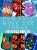 Fun Felt Busy Box Ideas Holidays Edition
