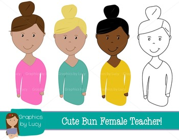 Female Teachers Clip Art Set! 12 PNG Images {Personal & Commercial Use}