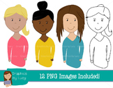 Female Teachers Clip Art Set! 12 PNG Images {Personal & Co