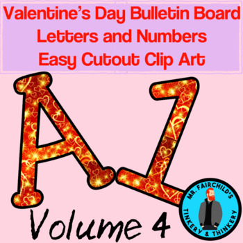 Fun Festive Easy Cutout Valentine's Day Bulletin Board Clip Art Volume 4