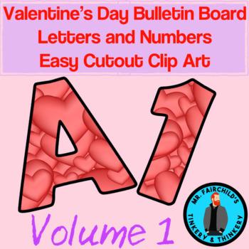 Fun Festive Easy Cutout Valentine's Day Bulletin Board Clip Art Volume 1