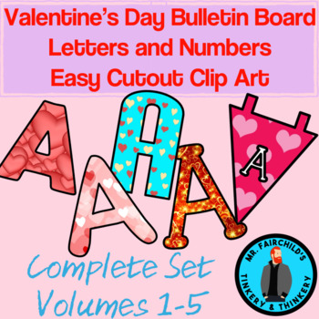 Fun Festive Valentine's Day Bulletin Board Clip Art Bundle (Volumes 1-5)