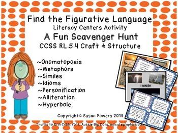 Fun Figurative Language Scavenger Hunt Literacy Activities