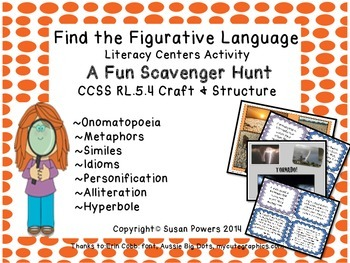 Fun Figurative Language Scavenger Hunt Literacy Activities