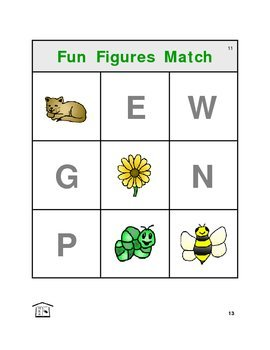 Fun Figures Match: letters and lotto!