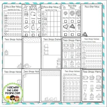 Dramatic Play Center Printables for Preschool & Kinder (Food Themes)