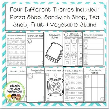 Dramatic Play Center Printables for Preschool & Kinder (Food Themes)