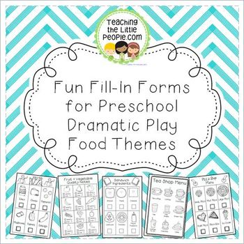 Dramatic Play Center Printables for Preschool & Kinder (Fo