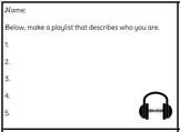 Fun Filler Activity-My Life Play List!