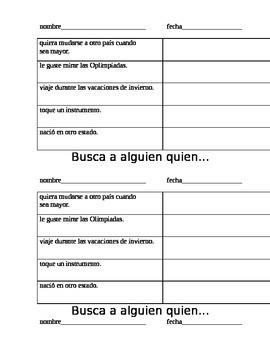 Fun Find Someone Who... ELD or Spanish Language Developmen