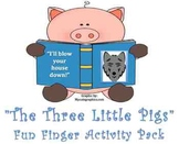 Fun Finger Puppet Pack- The Three Little Pigs