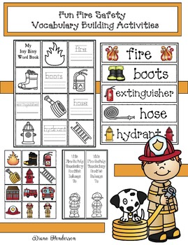 Fun Fire Safety Vocabulary Building Activities: Mini Bookl