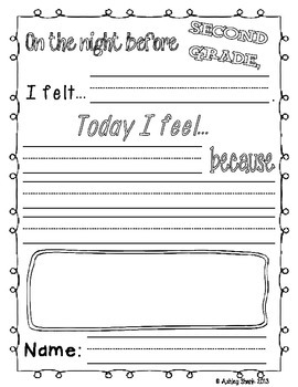 Fun First Day Activities for the First Day of Second Grade!