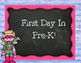 Fun First Day In Preschool and Pre-K Signs