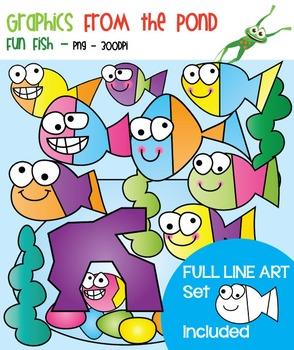 Fun Fish - Clipart for Teaching