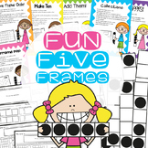 Fun Five Frames Games and Worksheets pack