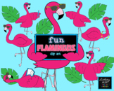 Fun Flamingos Clip Art Set