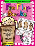 Kindergarten Language Skills Flap Books