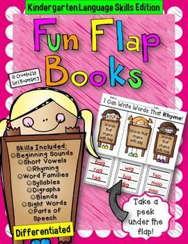 Kindergarten Language Skills Flap Books