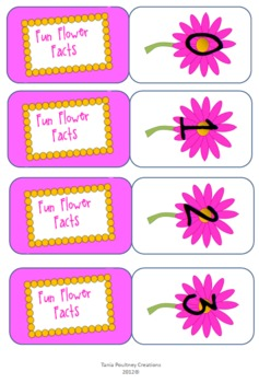 Addition Facts to 10- Fun Flower card game