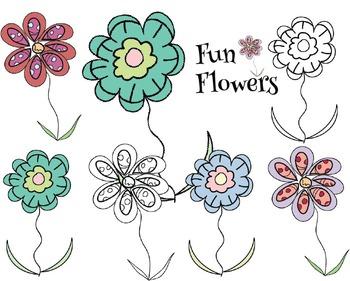 Fun Flowers {Freebie}