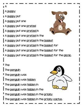 Fun Fluency Pyramids Featuring Open Syllables