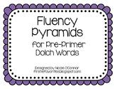 Fun Fluency Pyramids for Pre-Primer Words