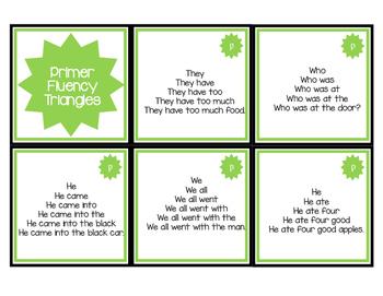 Fun Fluency Pyramids for Primer Words