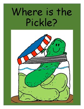 Fun Foldable Book and Activities - Where is the Pickle?