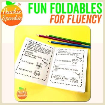 Fun Foldable Booklets for Fluency (Stuttering)