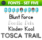 Fun Fonts - Handwriting Fonts - Color Fonts - SET FIVE