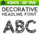 Fun Fonts - Handwriting Fonts - Color Fonts - SET FIVE