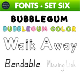 Fun Fonts - Handwriting Fonts - Color Fonts - SET SIX