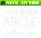 Fun Fonts - Handwriting Fonts - Color Fonts - SET THREE
