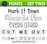 Fun Fonts - Handwriting Fonts - Color Fonts - SET TWO