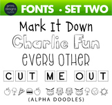 Fun Fonts - Handwriting Fonts - Color Fonts - SET TWO
