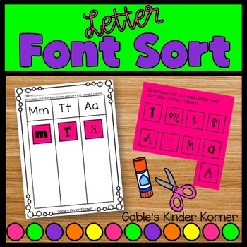 Fun Fonts Letter Sort!