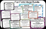 Fun Fonts Mega Bundle {True Type Fonts for personal and commercial use}