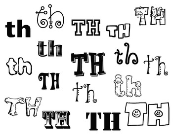 Fun Fonts for Articulation : K G F V TH SH CH WH J S Z L R and S-blends