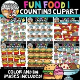 Fun Food 1 Counting Clipart Bundle {Counting clipart}