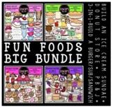 Fun Foods Clip Art Big Bundle {Educlips Clipart}