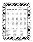 Fun Food & Drink Word Search Puzzle