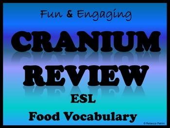 Esl - Food Vocabulary Game Review  Cranium Game