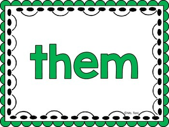 Sight Word Slide Show, Literacy First List A Words 51-100, Fun Foods