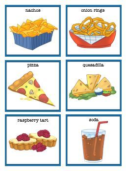 Fun Foods from A-Z Rhyme, File Folders, and Worksheets