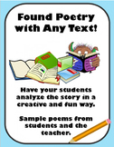 Fun Found Poetry Activity for Any Text!