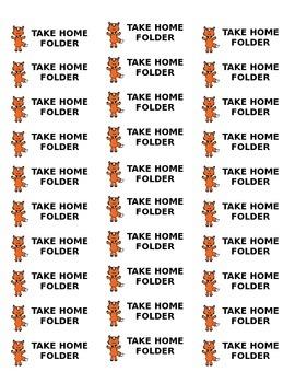 Fun Fox Labels for Classroom Subjects / Folders